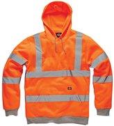 Forever Mens Dickies Hi Viz Hoodie Hooded Sweatshirt High Visibility Workwear Jacket