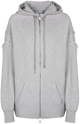 Barrie Zip-through cashmere hoodie