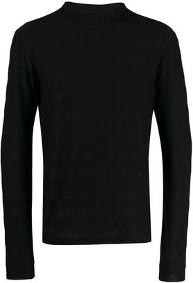 Saint Laurent Glittered Roll-Neck Jumper