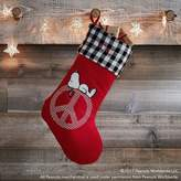Pottery Barn Teen Peanuts® Peace Sign Stocking
