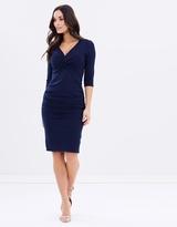Forcast Tiffany 3/4 Sleeve Twist Dress