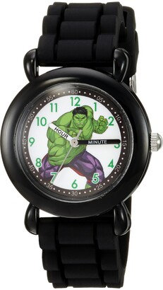 Marvel Boys' Hulk Analog-Quartz Watch with Silicone Strap