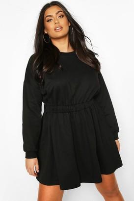 boohoo Plus Elasticated Waist Sweat Dress