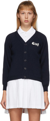 Comme des Garcons Navy Lochaven Of Scotland Edition Girl Cardigan