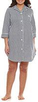 Lauren Ralph Lauren Plus Classic Notch-Collar Sleepshirt