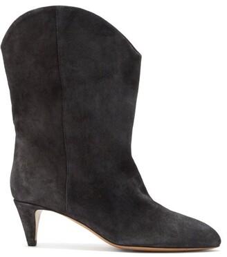Isabel Marant Dernee Suede Ankle Boots - Black