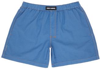 Double Rainbouu Blue Linen Boxers