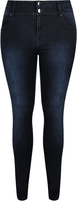City Chic Highrise Skinny Short Harley Jean