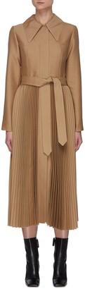 A.W.A.K.E. Mode Pleated skirt wool-silk blend coat
