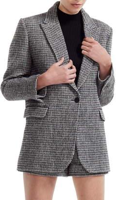 Maje Gregor Cotton & Wool Blend Tweed Blazer