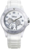 Disney Mickey Mouse Crystal Accent White Resin Watch