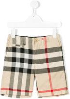 Burberry check chino shorts - kids - Cotton - 5 yrs