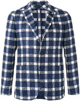 Tagliatore checked blazer - men - Linen/Flax/Polyamide/Cupro - 52