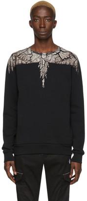 Marcelo Burlon County of Milan Black and Brown Earth Wings Sweatshirt