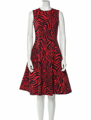 Calvin Klein Animal Print Knee-Length Dress Red Animal Print Knee-Length Dress