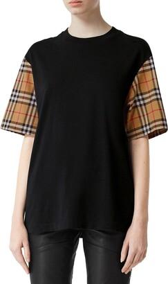 Burberry Serra Vintage Check Sleeve T-Shirt