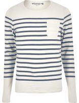 River Island MensNavy Jack & Jones Vintage stripe sweater