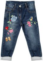 MonnaLisa Embroidered Cotton Denim Jeans