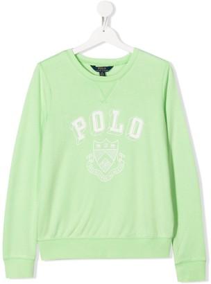 Ralph Lauren Kids TEEN crest-print relaxed-fit sweatshirt