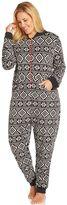Cuddl Duds Plus Size Pajamas: Star Gazer 1-Piece Microfleece Pajamas