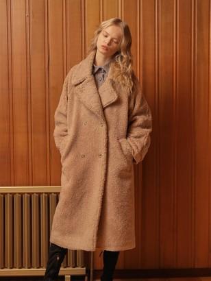 Wardrobe Overfit Teddy Bear Coat_Brown