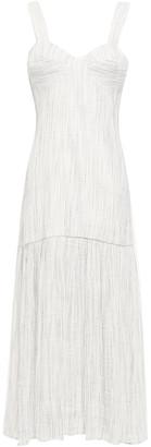 Anna Quan Lisa Pleated Linen-blend Midi Dress