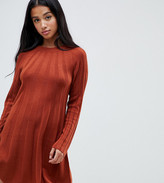 Asos DESIGN Petite rib swing dress in knit