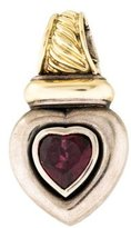 David Yurman Two-Tone Rhodolite Heart Enhancer Pendant
