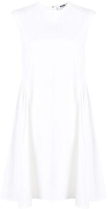 MSGM Sleeveless Ruffled Cotton Dress