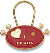 Prada Embellished Textured-leather Keychain