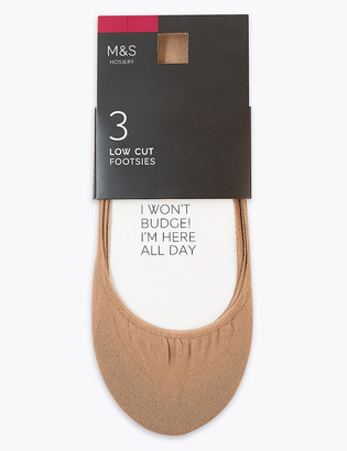 Marks and Spencer 3 Pack Low Cut Footsies