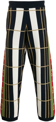 Gucci Checked Knitted Trousers