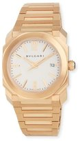 Bvlgari 38mm Octo Solotempo Pink Gold Watch