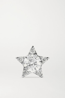Maria Tash 7mm 18-karat White Gold Diamond Earring - one size