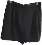 Ichi Black Cotton Shorts for Women