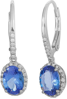 FINE JEWELRY LIMITED QUANTITIES Genuine Tanzanite and 1/5 CT. T.W. Diamond White Gold Earrings