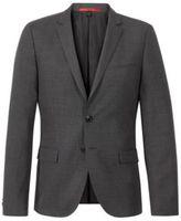 HUGO BOSS Wool Cotton Nailhead Sport Coat, Slim Fit Arti 44R Charcoal