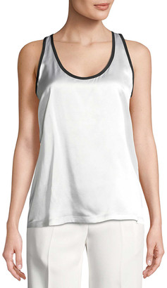 Givenchy Scoop Neck Silk Top