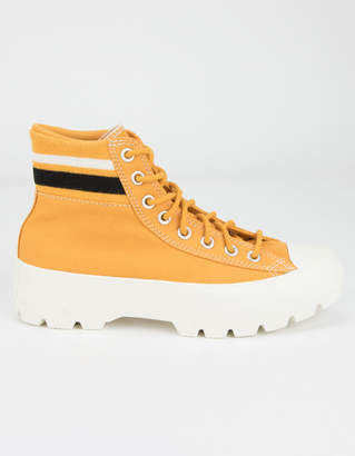 Converse Lugged Varsity Chuck Taylor All Star Womens Yellow High Top Shoes