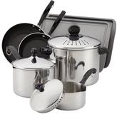 Farberware Classic 10-Piece Cook and Strain Set in Stainless Steel