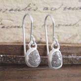 Embers Gemstone Jewellery Silver Rough Diamond Bridal Birthstone Drop Earrings