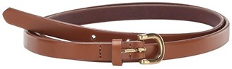 J.Crew Laura Skinny Leather Bombe Belt (Pecan) Women's Belts