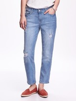 Old Navy Mid-Rise Eco-Friendly Straight Cropped Denim for Women