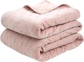 Wallace Cotton Chateau Velvet Bedspread Rose Xlarge