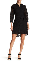 Collective Concepts Tie Waist Lace Shirt Dress