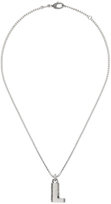 "Gucci Silver ""L"" letter necklace"
