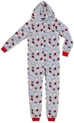 Jellifish Girls 4-16 Printed Hooded One-Piece Union Suit Pajamas