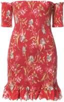 Zimmermann Off-the-Shoulder Floral Dress