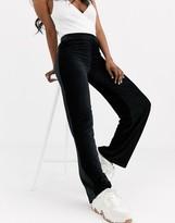 Pieces wide leg velvet pants