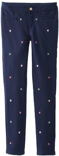 Hartstrings Girls 7-16 Big Girl Embroidered Knit Ponte Pant